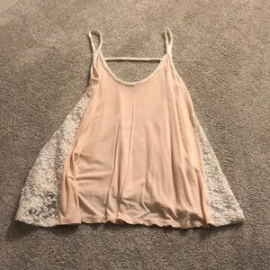 💕Kismet pink and lace tank top